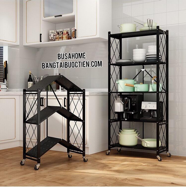 Kệ xếp gia đình 3 tầng để đồ dùng nhà bếp